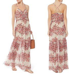 Intermix Chelsea Floral Spring Silk Maxi Dress